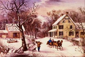 """It'll nearly be like a picture print by Currier and Ives."""