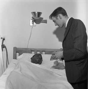 William Barbee in his hospital bed